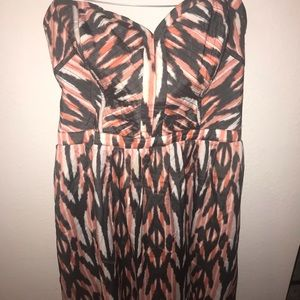 Strapless Pattern Dress